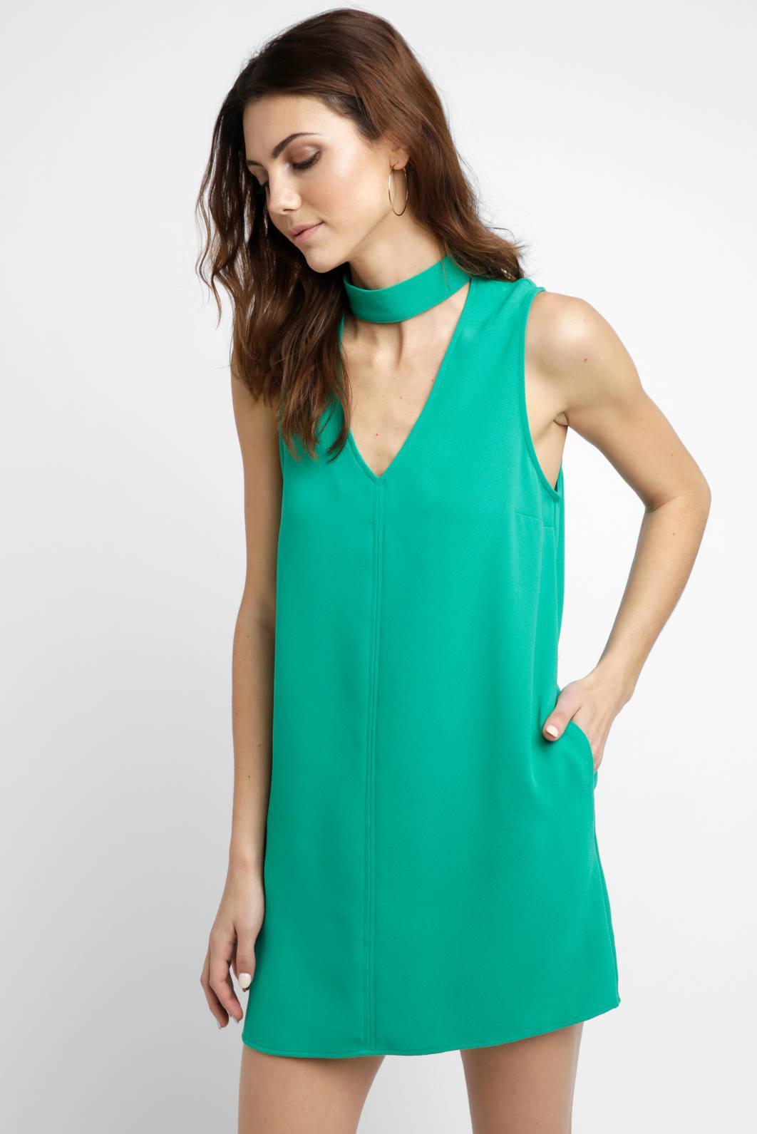 Lyst South Moon Under Sleeveless Gigi Crepe Sheath Dress In Green