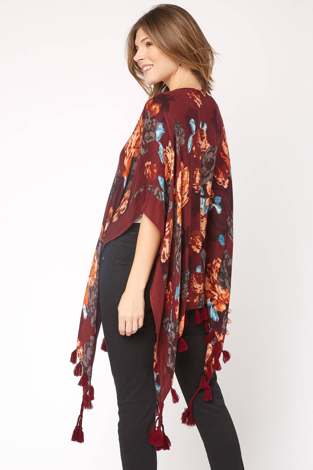 d7ec7510b5d21 Lyst - South Moon Under Brushed Floral Tassel Kimono in Red