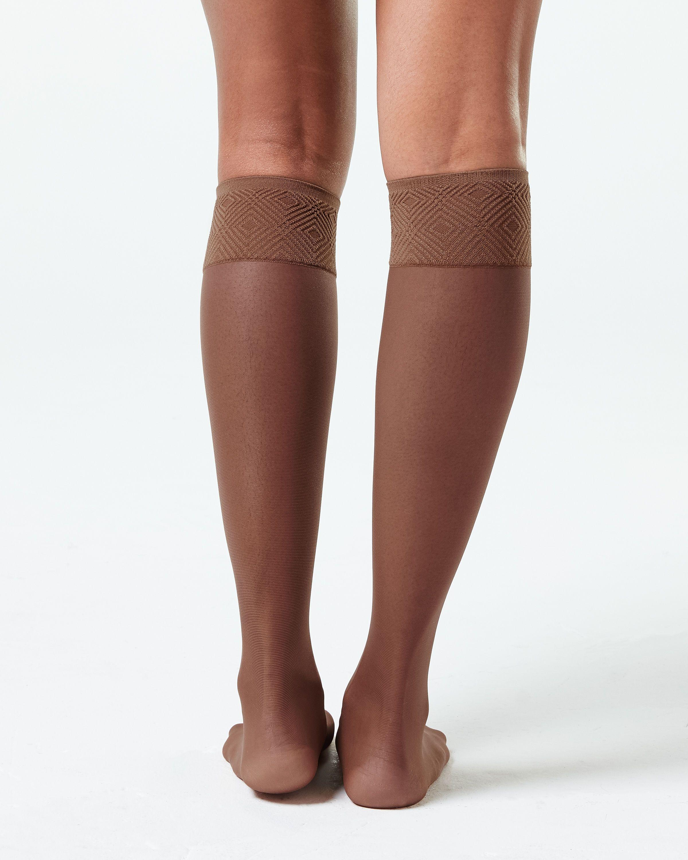 45d1a73e121 Lyst - Spanx Sheer Hi-knee Socks - Two Pack! in Brown