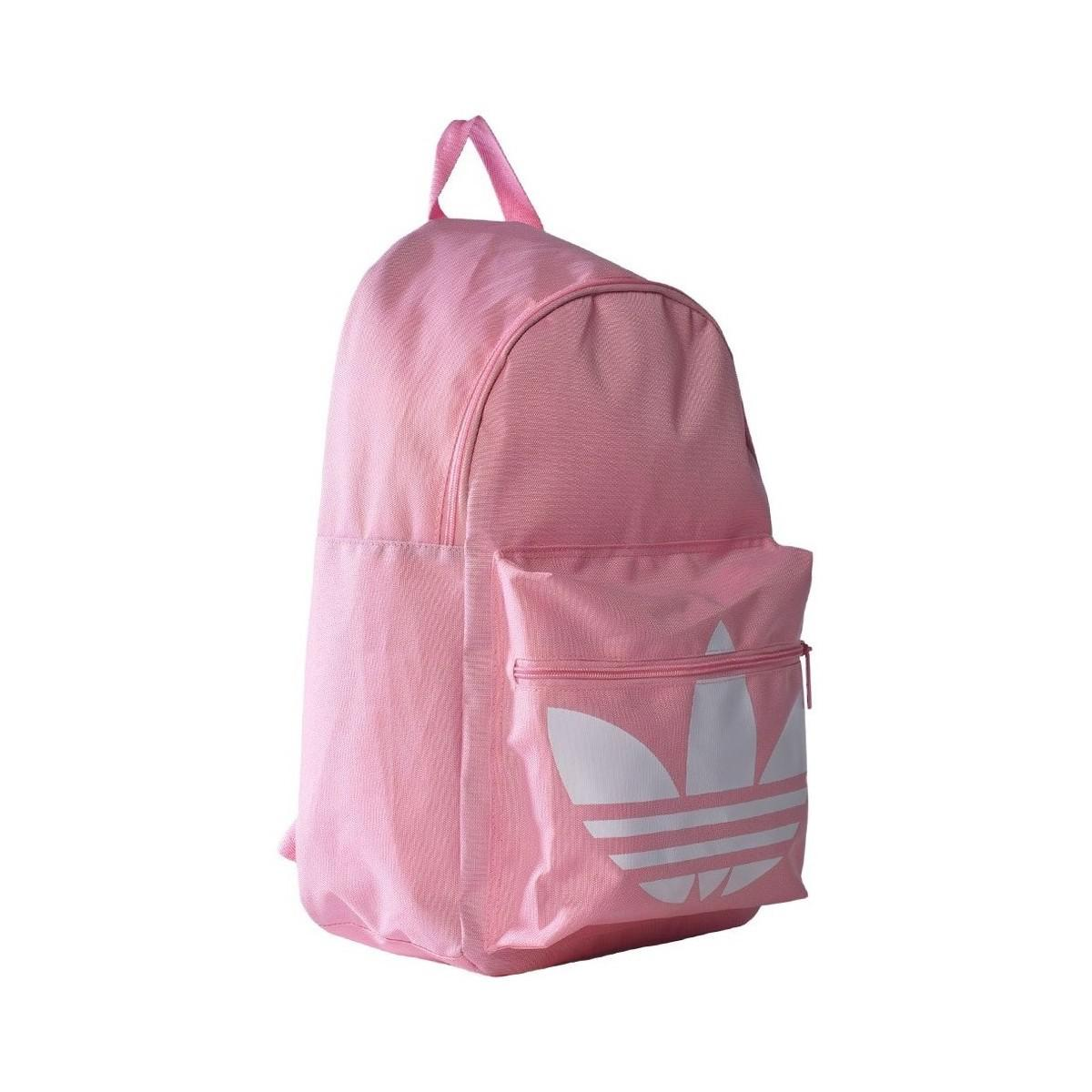 7efd90e99352 adidas Originals Classic Trefoil Women s Backpack In Pink in Pink - Lyst