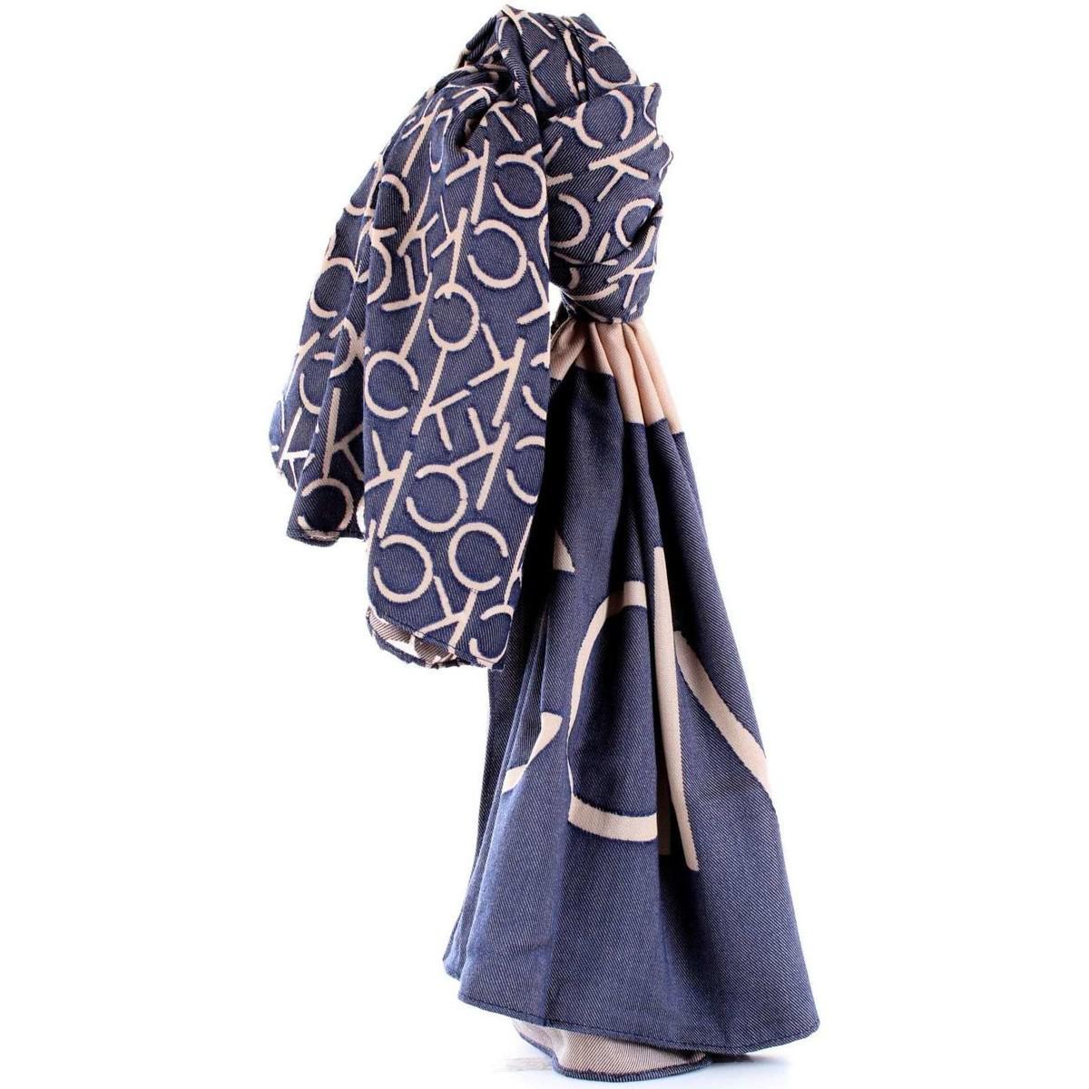 b079d9239bb Lyst - K60K604705 femmes Echarpe en bleu Calvin Klein en coloris Bleu
