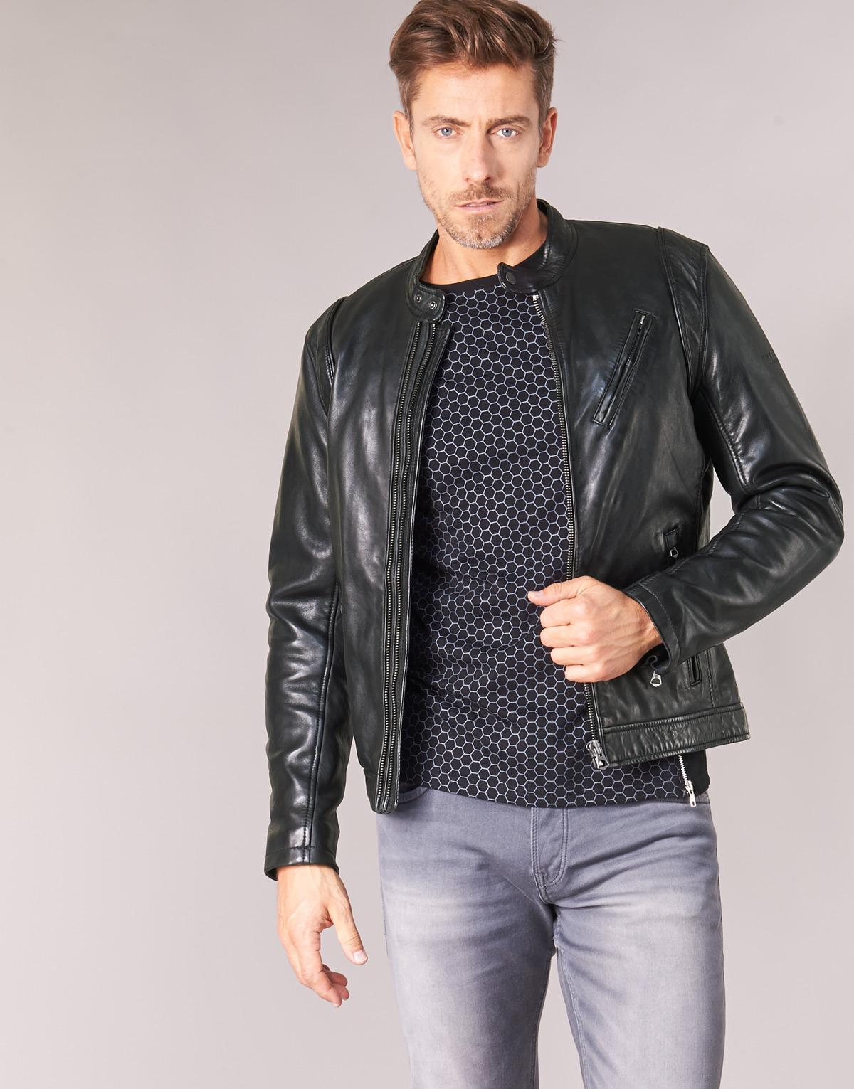 Pepe Jeans Culpeper Leather Jacket in Black for Men - Lyst 85080c6fe9