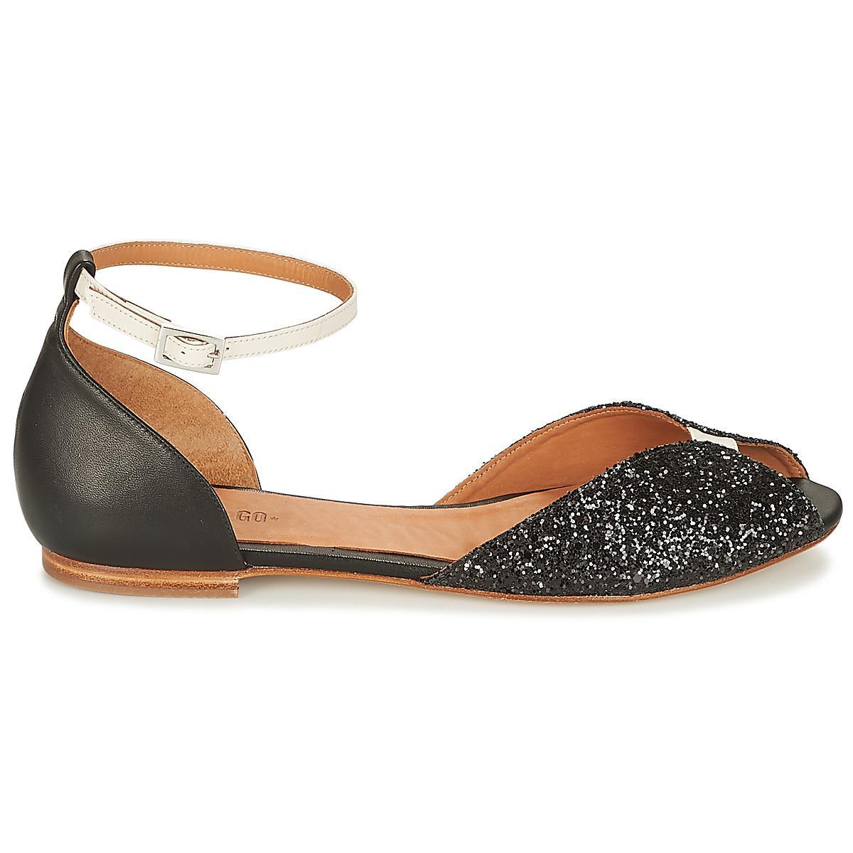 d71128c5fe9d0e Emma Go Juliette Glitter Women s Sandals In Black in Black - Lyst