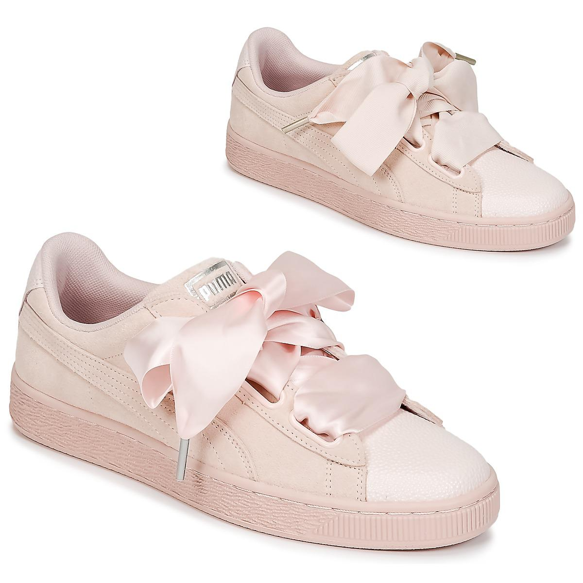 3845afa6a5d8 Puma Suede Heart Bubble W s Shoes (trainers) in Pink - Lyst