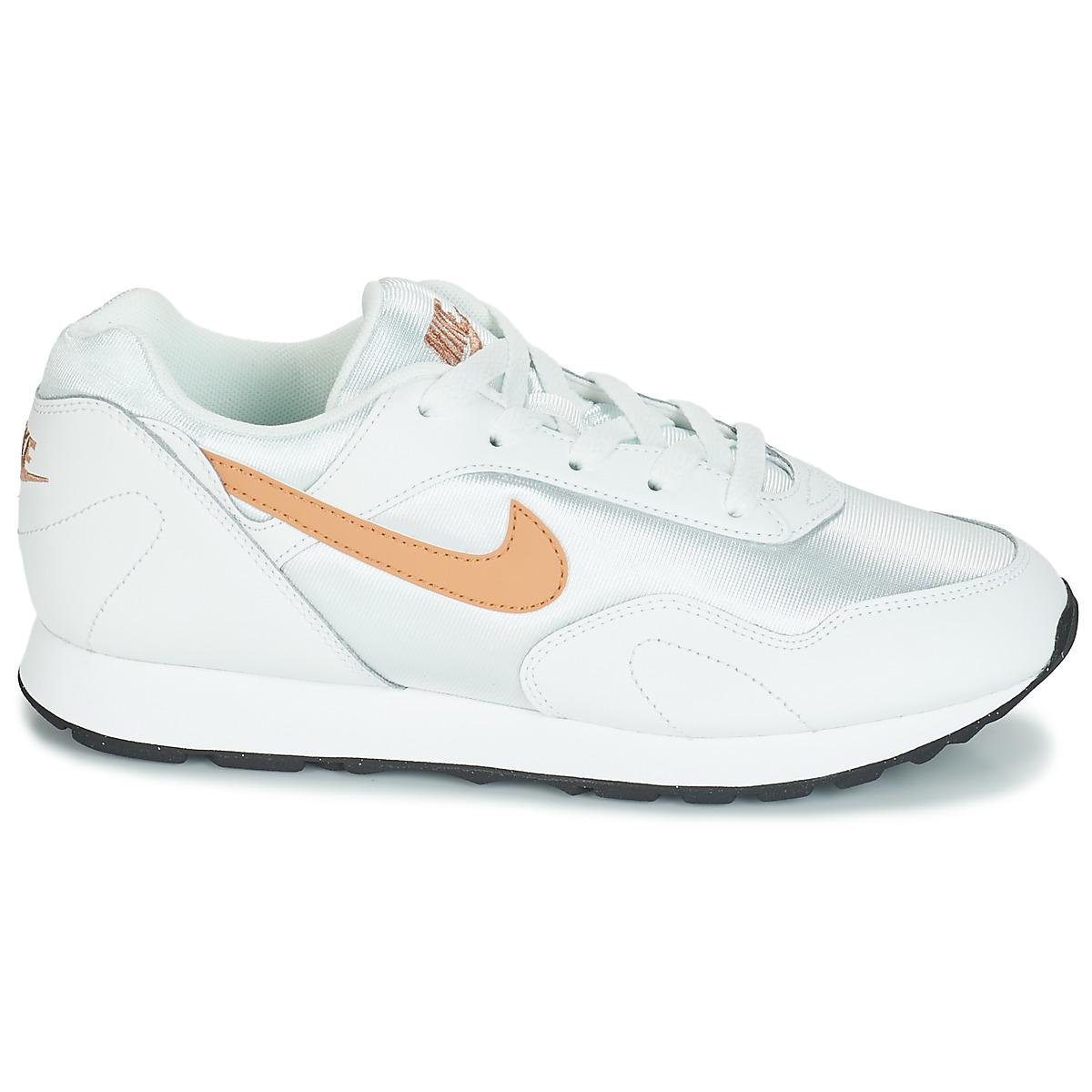 a2b5b2948c91d Nike - White Outburst Mixed Lace-up Sneakers - Lyst. View fullscreen