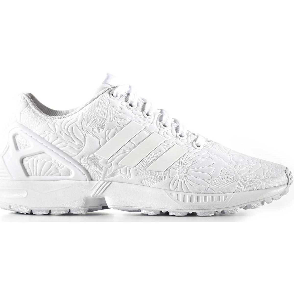ADIDAS ZX FLUX Women White Black Sneaker Bianco s76590