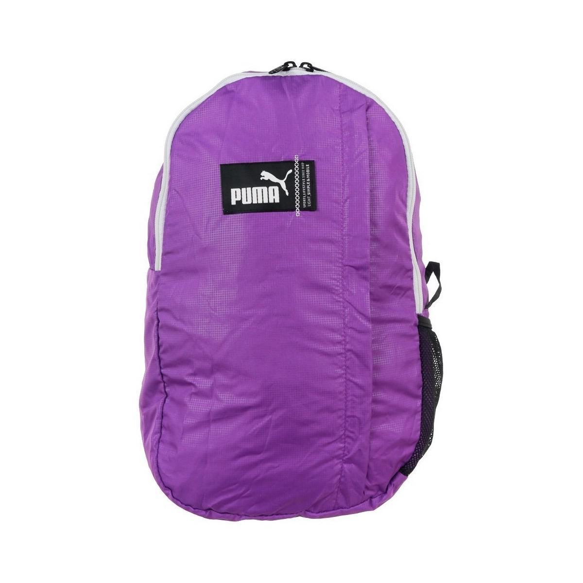 856e60e84b PUMA Pack Away Backpack Men's Backpack In Multicolour in Purple for ...