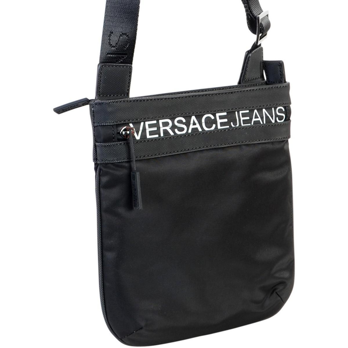 f73b24255f Sacoche Linea Macrologo Dis 5 hommes Sacoche en Noir Versace Jeans ...