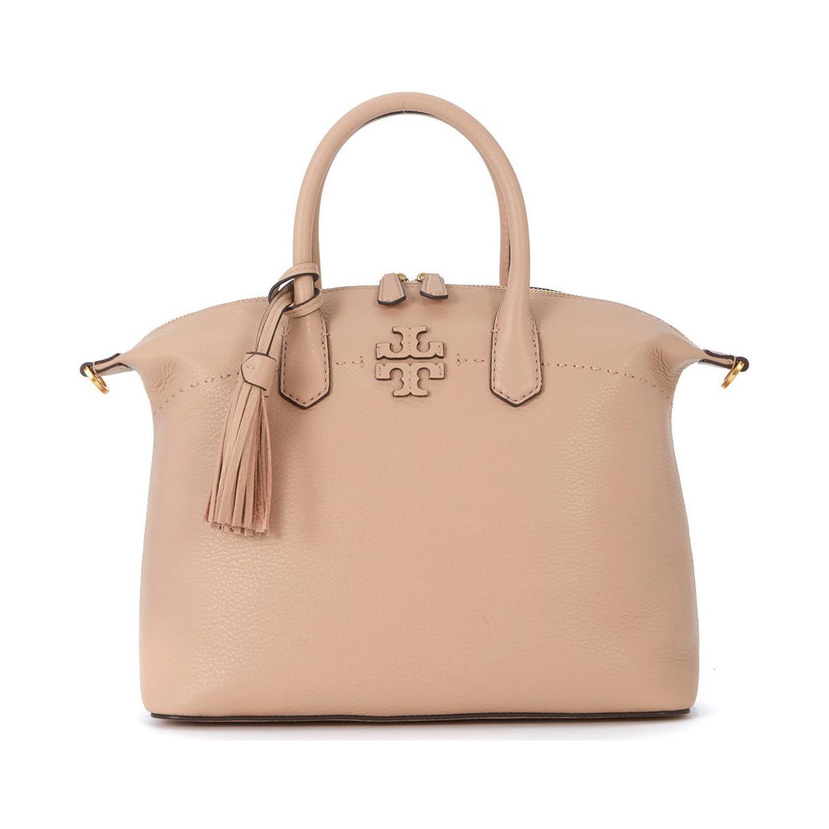 6a50dc2d01d40 Tory Burch Borsa A Mano Mcgraw In Pelle Sabbia Women s Handbags In ...
