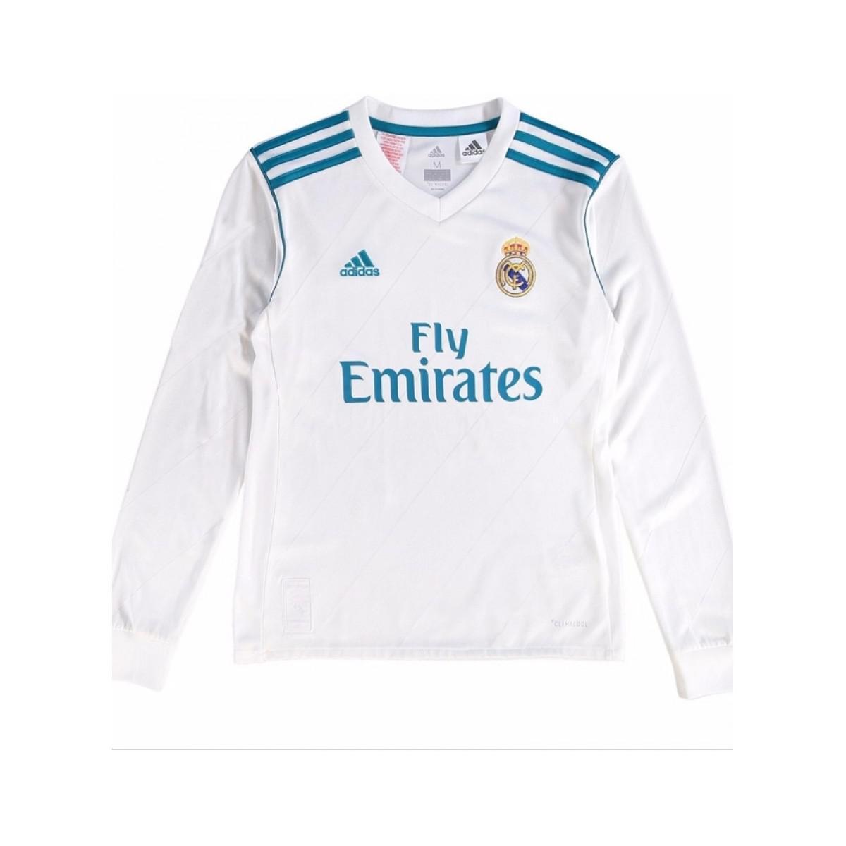 new product 6ba5a 2f234 Adidas - 2017-18 Real Madrid Long Sleeve Home Shirt - Kids (isco 22. View  fullscreen