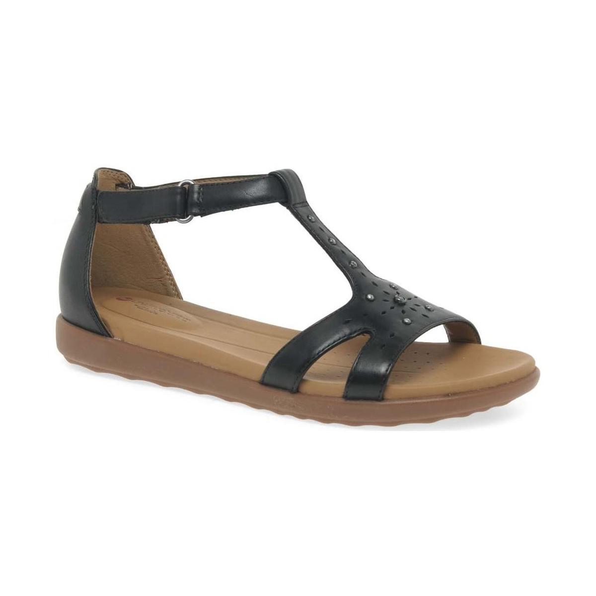 97c755f501c179 Clarks Un Reisel Womens Studded Sandals Women s Sandals In Black in ...