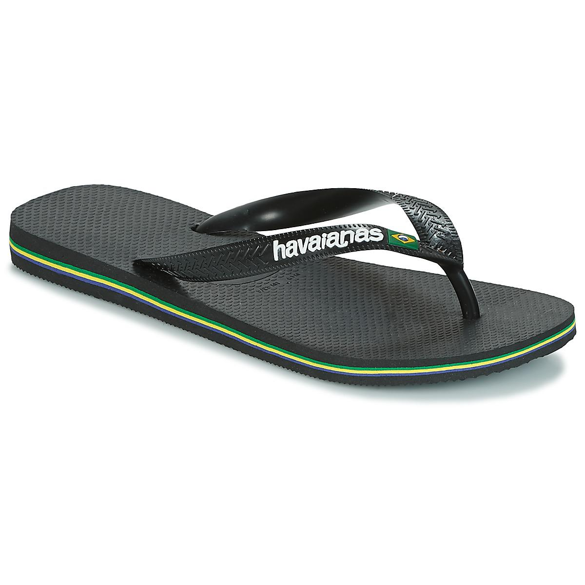 bda91a53ba9c46 Havaianas - Brazil Logo Men s Flip Flops   Sandals (shoes) In Black for Men.  View fullscreen