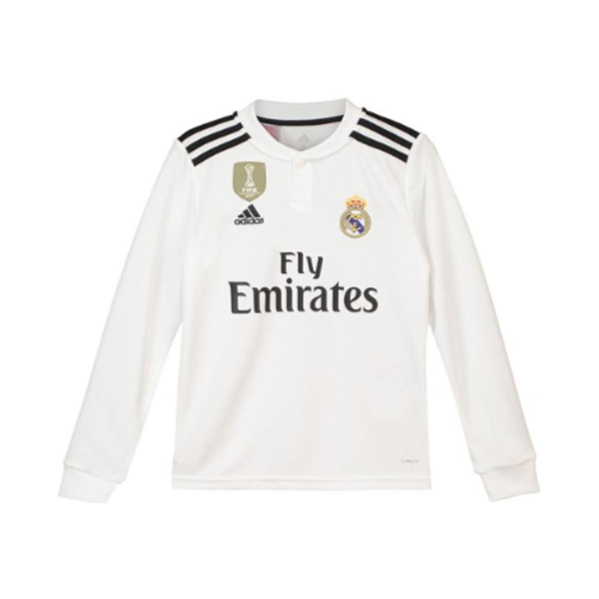 adidas 2018-2019 Real Madrid Home Long Sleeve Shirt (kids) Men s In ... e4abe0df0