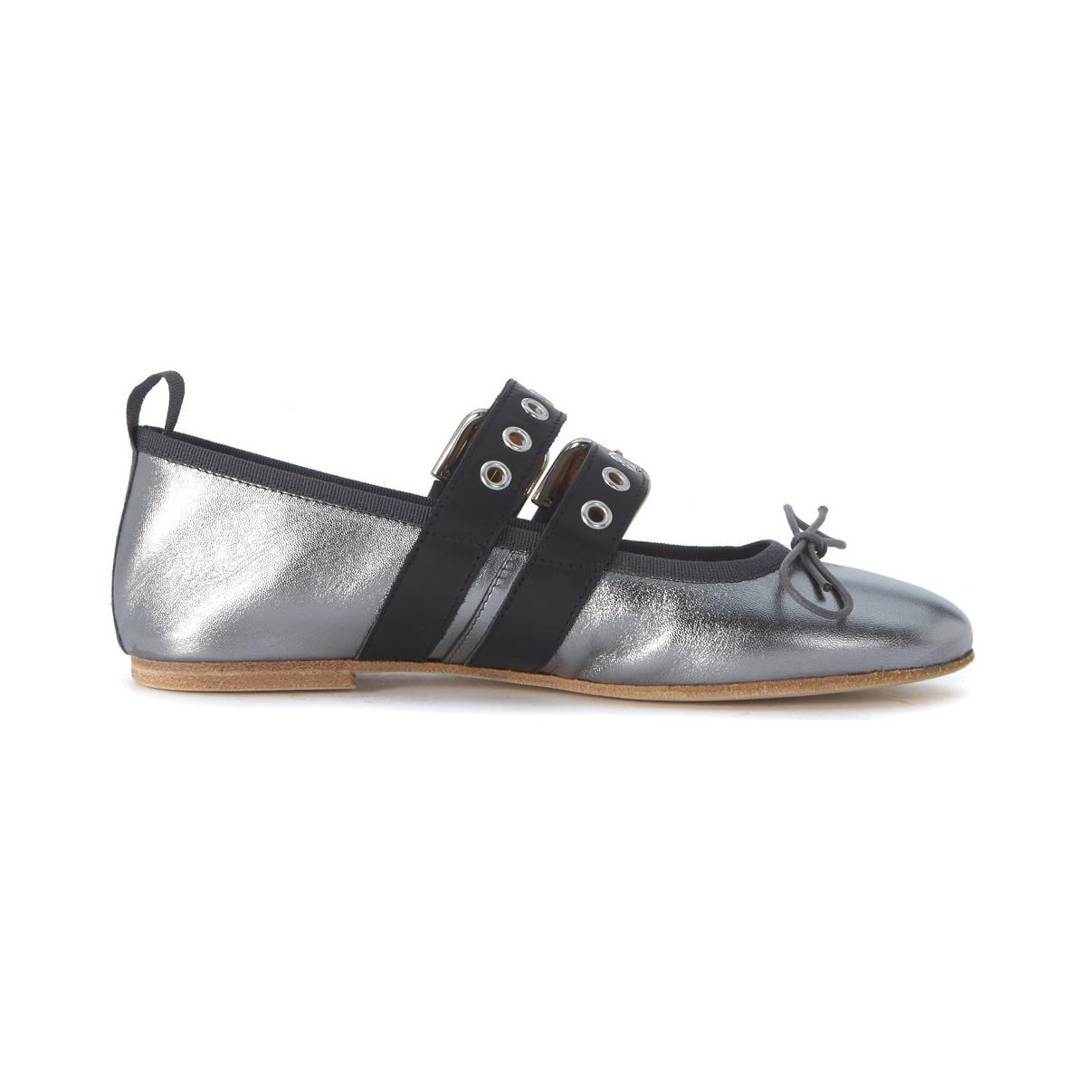 Via Roma Laminated leather flat shoes women's Shoes (Pumps / Ballerinas) in Exclusive DH86Hp