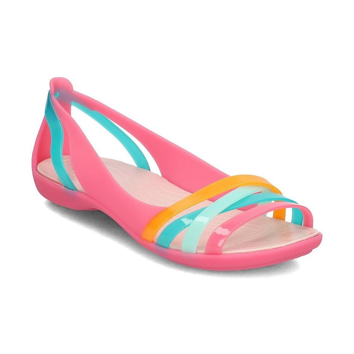 d31cd67d9 Crocs™ Isabella Huarache 2 Women s Sandals In Pink in Pink - Lyst
