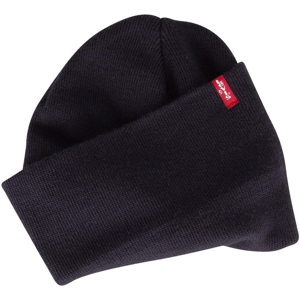 630a5d07 Levi's Levis Men's Slouchy Red Tab Beanie, Blue Men's Beanie In Blue ...