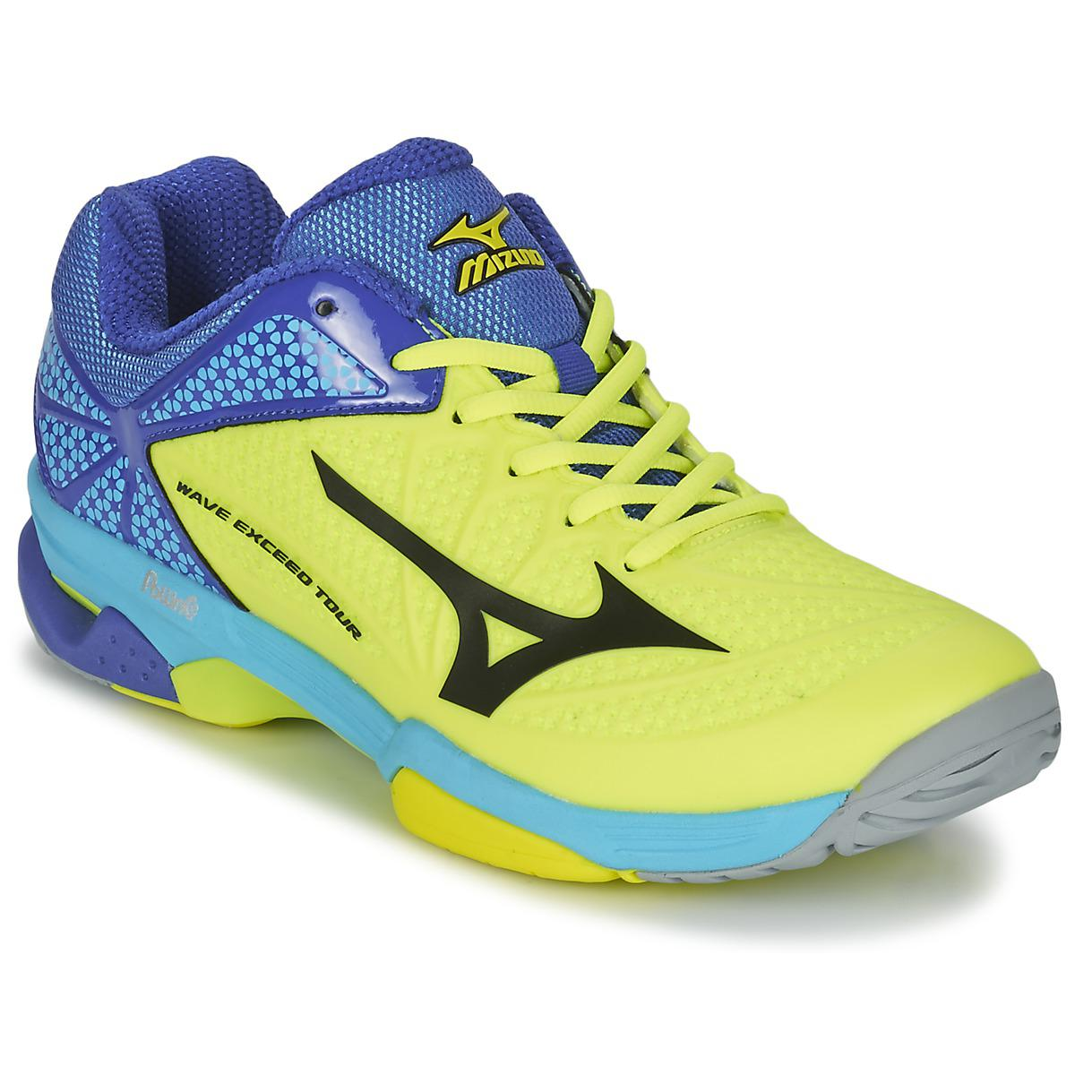 9ef3a2ac5b87 Mizuno Wave Exceed Tour 2 Cc Men's Tennis Trainers (shoes) In Yellow ...