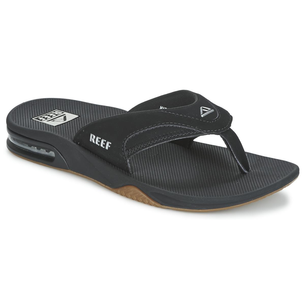 3d7362b42fcc3 Reef - Fanning Men s Flip Flops   Sandals (shoes) In Black for Men -. View  fullscreen