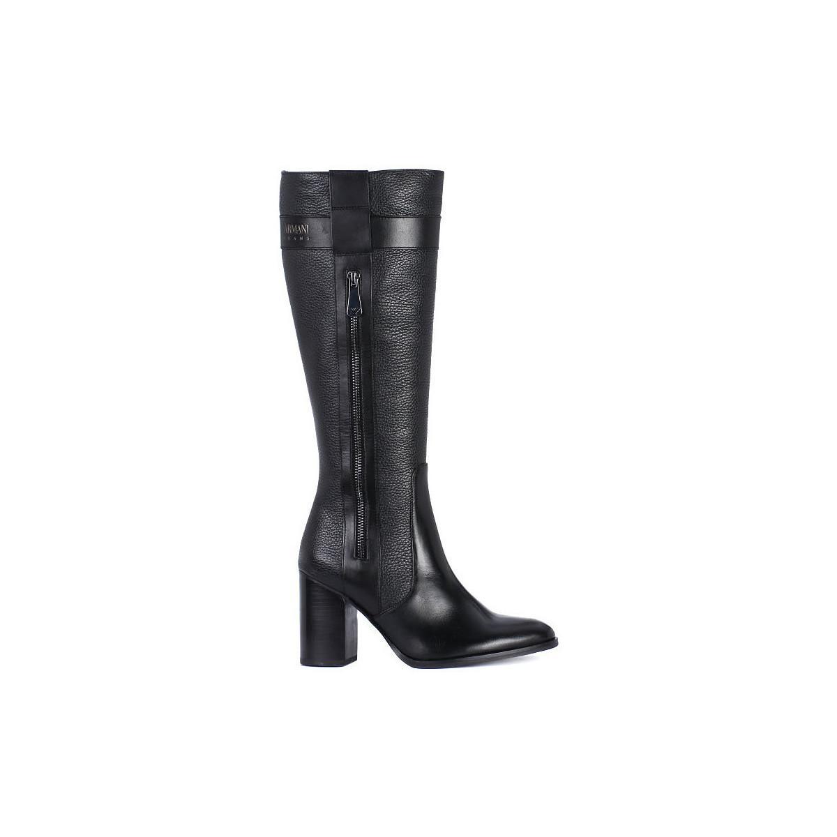 finest selection 8d33d c722a Armani Jeans Stivali Women's Boots In Black in Black - Lyst
