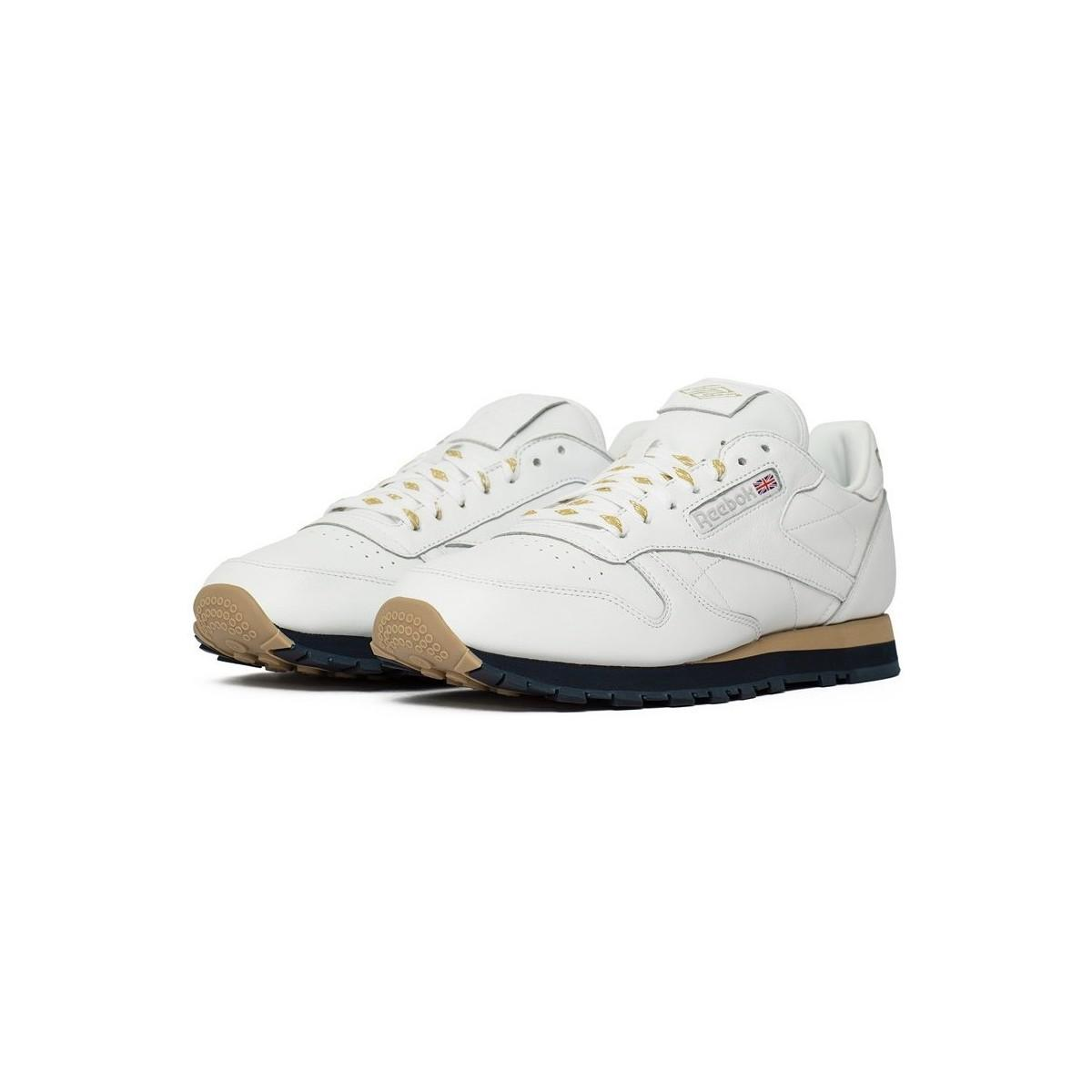 Reebok X Beams Classic Leather Men s Shoes (trainers) In Multicolour ... b5d3372a0