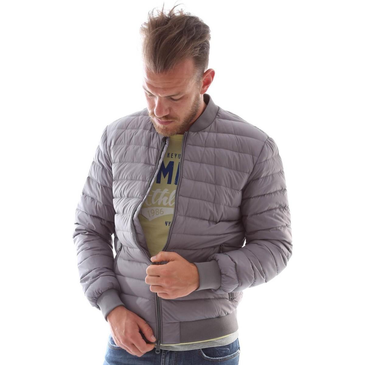 6bfe21e4eff Geox M6225e T1816 Down Jacket Man Grey Men's Jacket In Grey in Gray ...