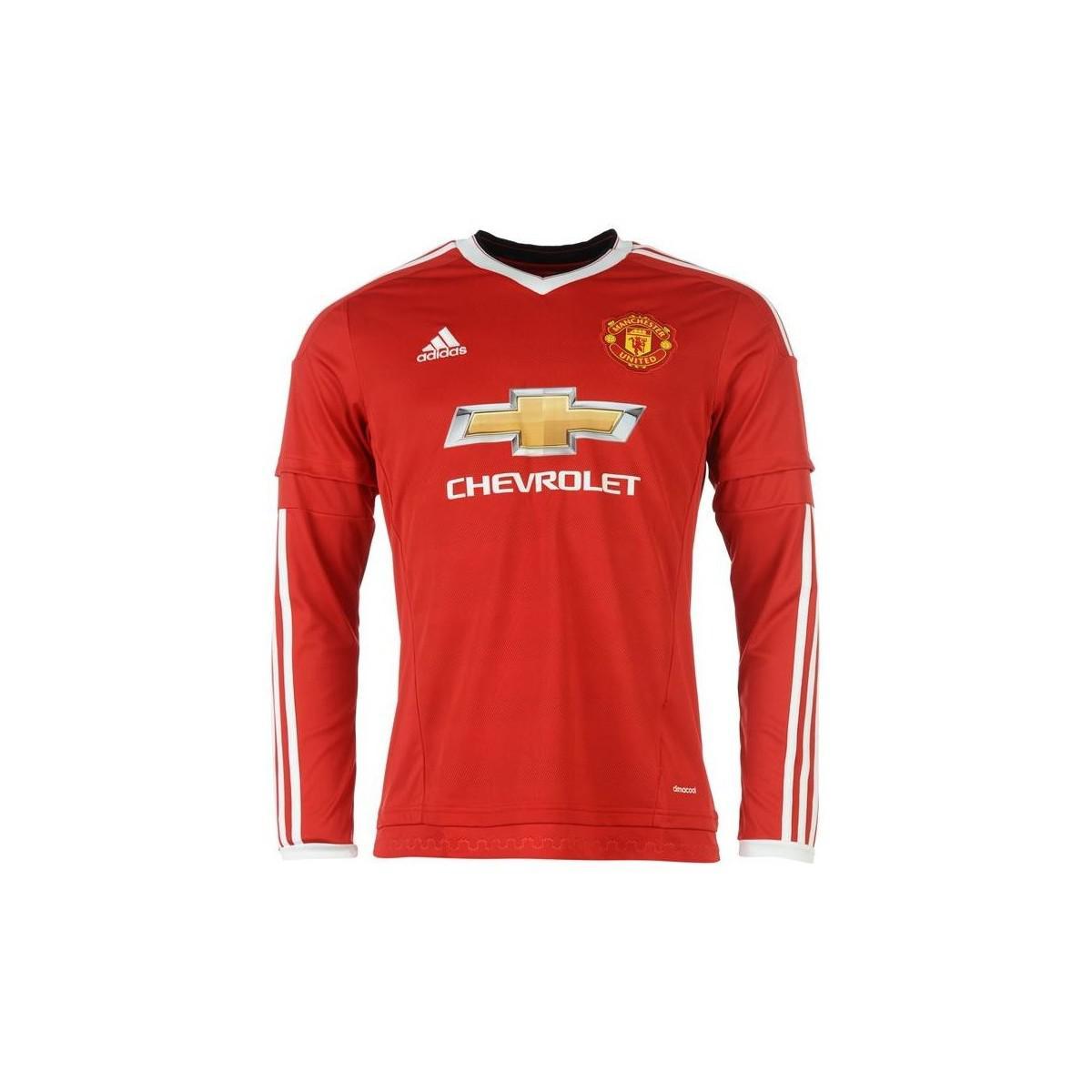 783ee16af Adidas - 2015-2016 Man Utd Long Sleeve Home Shirt (marcos Rojo 5). View  fullscreen