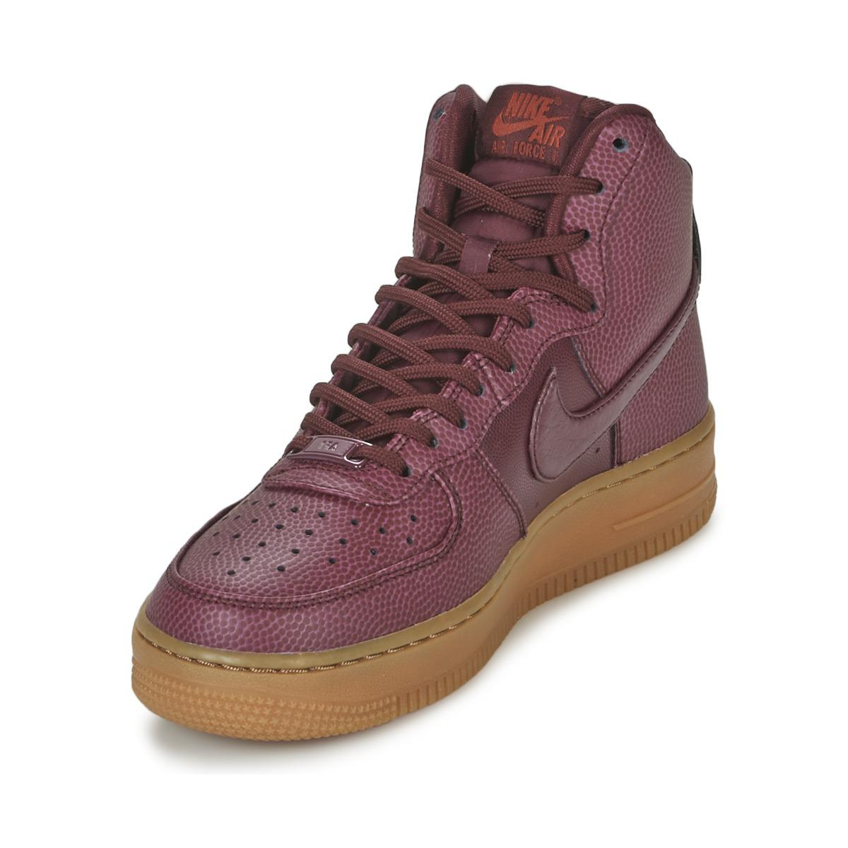 8047934eed67 Nike Air Force 1 Hi Se W Women s Shoes (high-top Trainers) In Red in ...