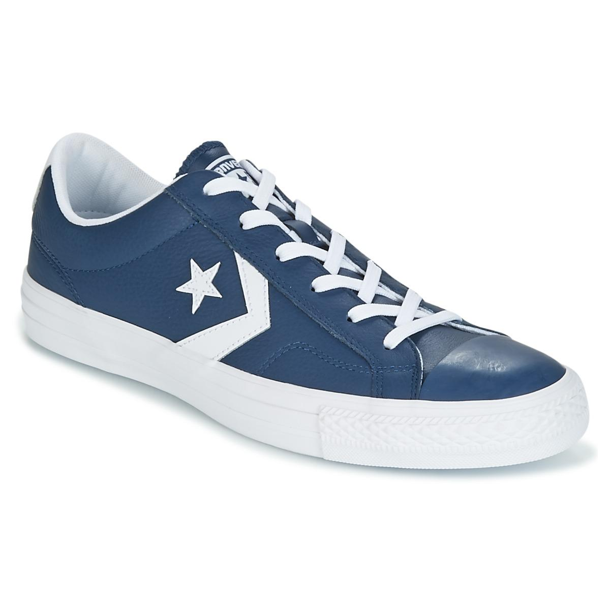 7116706e8979ec Converse Star Player Ox Leather Essentials Shoes (trainers) in Blue ...