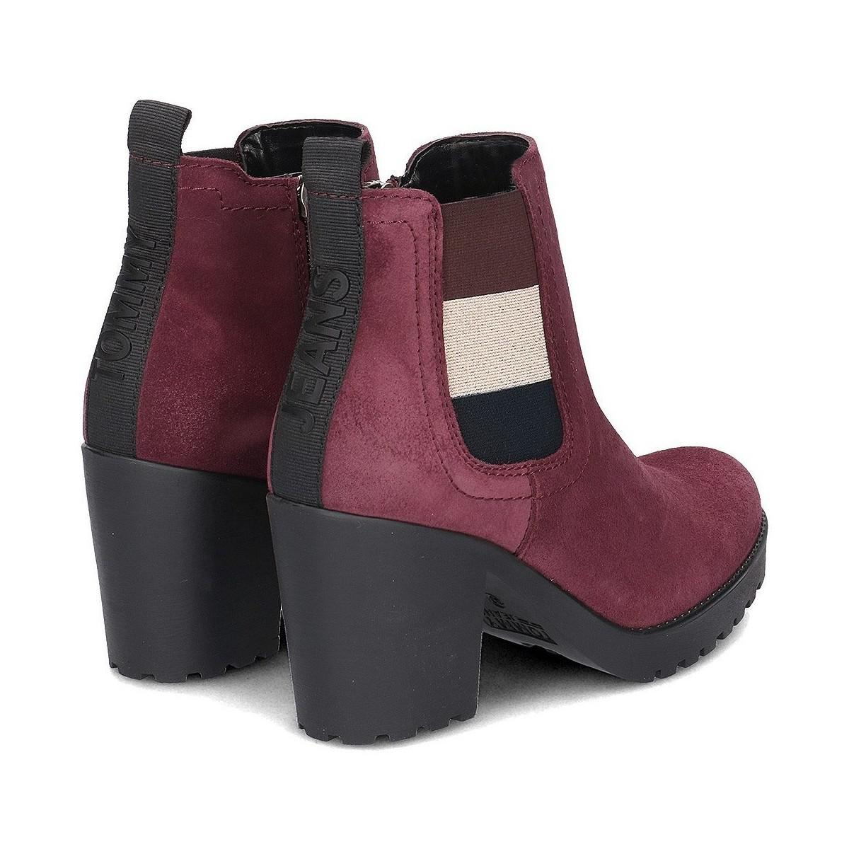 5f5f72376 Tommy Hilfiger - Purple En0en00332 Women s Low Ankle Boots In Multicolour -  Lyst. View fullscreen