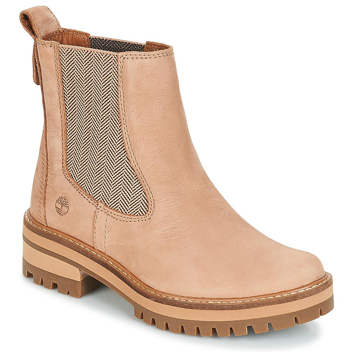 b34f87fcc92 Timberland Courmayeur Valley Chelsea Mid Boots in Pink - Save 15% - Lyst