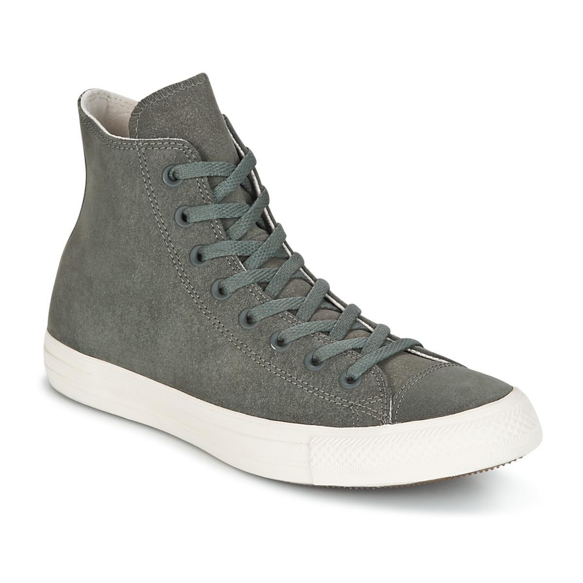 f8f4aa580dbff1 Converse. Gray Chuck Taylor All Star Hi Nubuck Men s Shoes (high-top  Trainers) ...