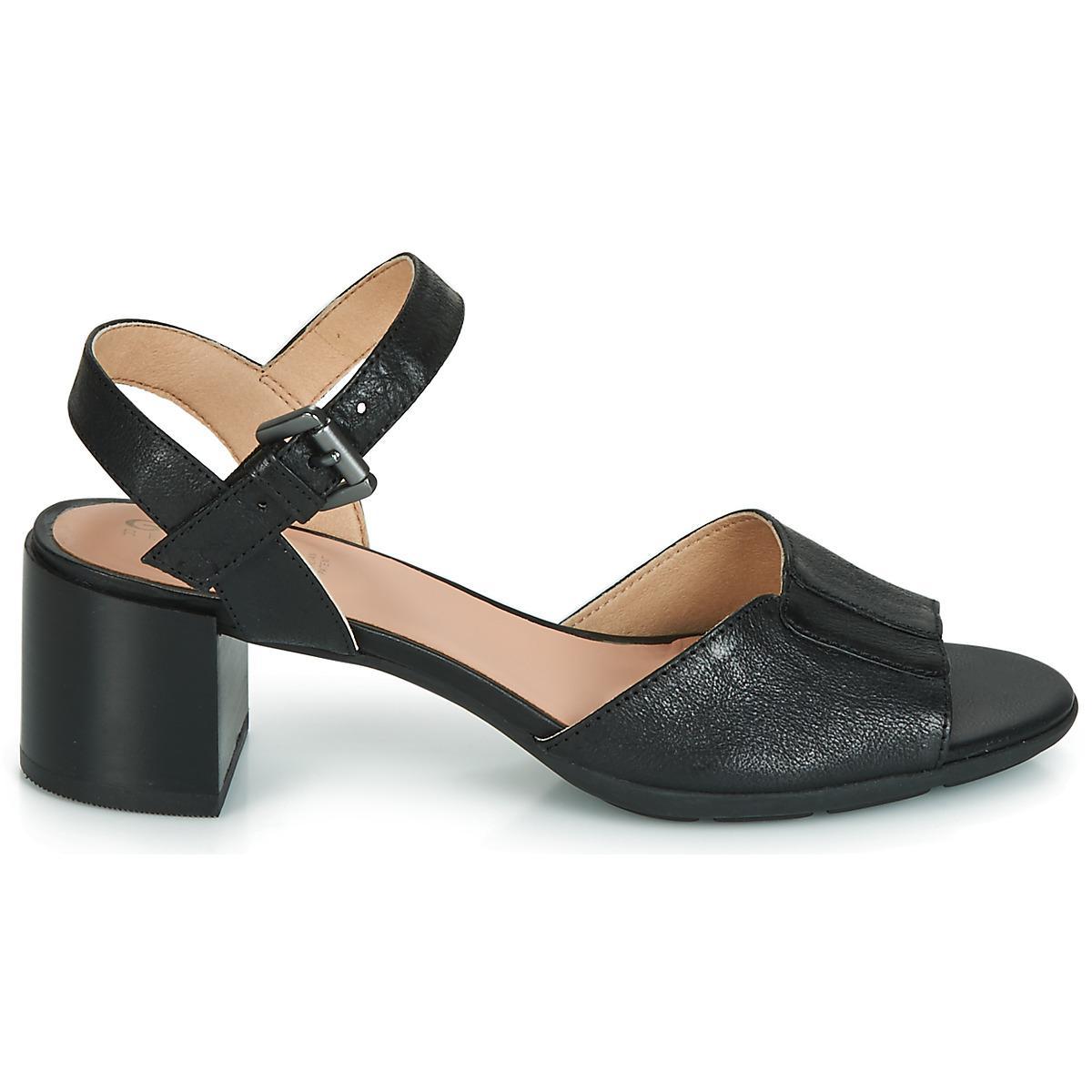 Sandals Lyst In Women's Mid D Marykarmen San Black Geox lFKu1Tc35J