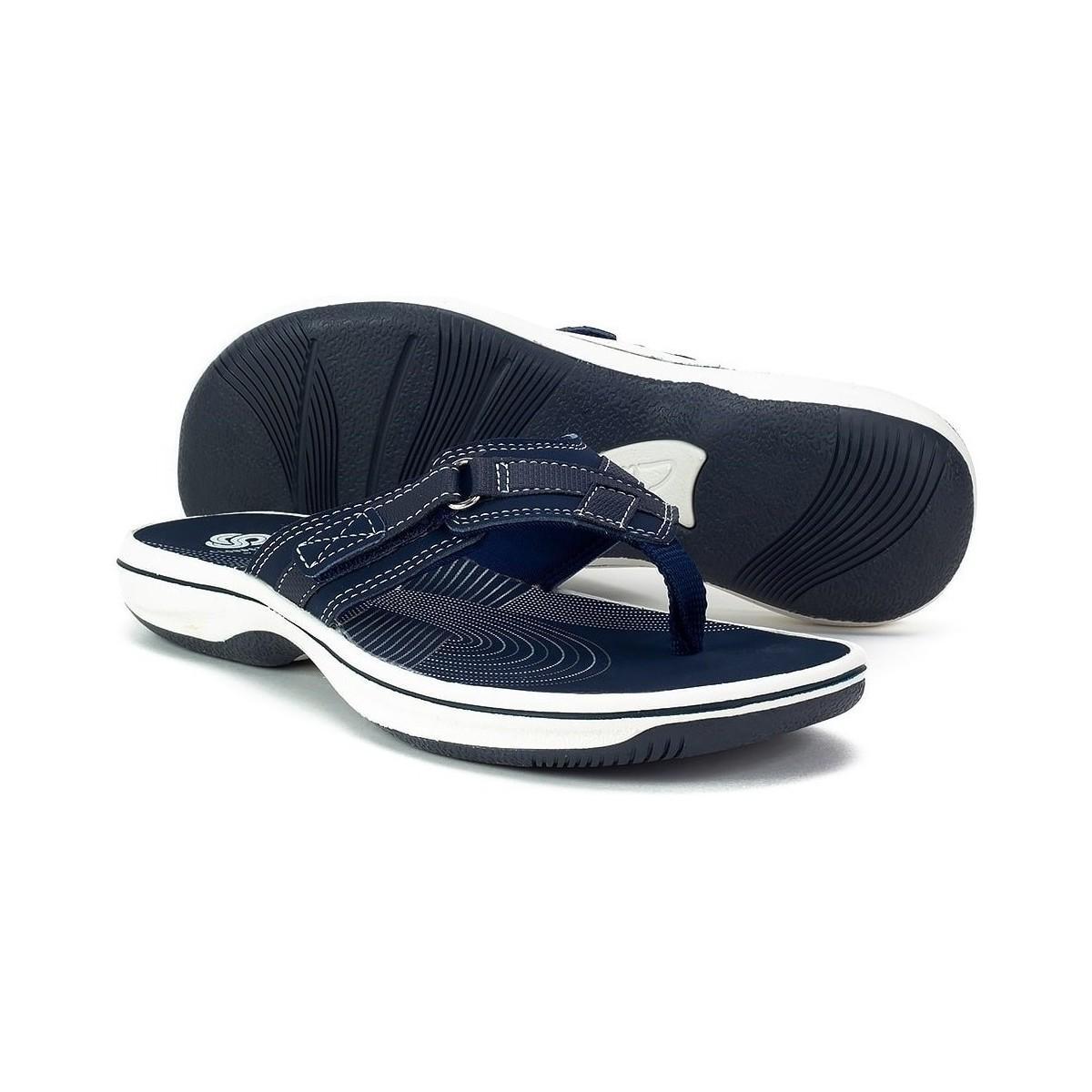 860dd9017230 Clarks - Blue Brinkley Sea Women s Flip Flops   Sandals (shoes) In  Multicolour -. View fullscreen