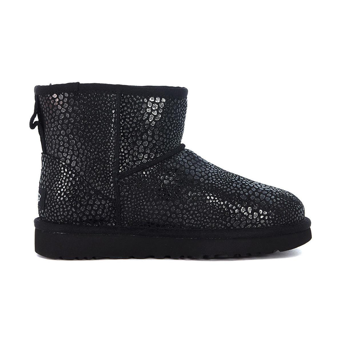 UGG Classic Mini Glitzy Ankle Boots In Reptile Effect Suede Leather Sale Fashion Style Outlet Perfect Discount 2018 Newest Amazon n1mmImNG