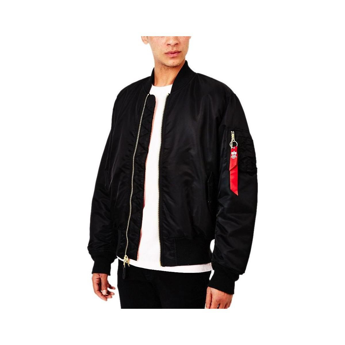 2713bd81f3a6 Alpha Industries Classic Ma1 Vintage Fit Bomber Jacket Black Men s ...