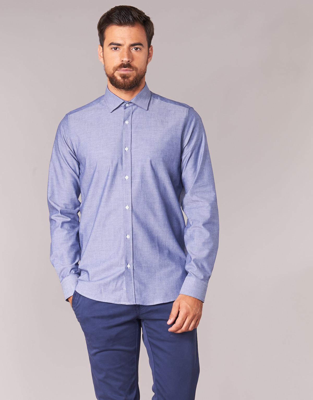Men's Fileni Casual Sleeved For In Long Attitude Blue Shirt SzqwF