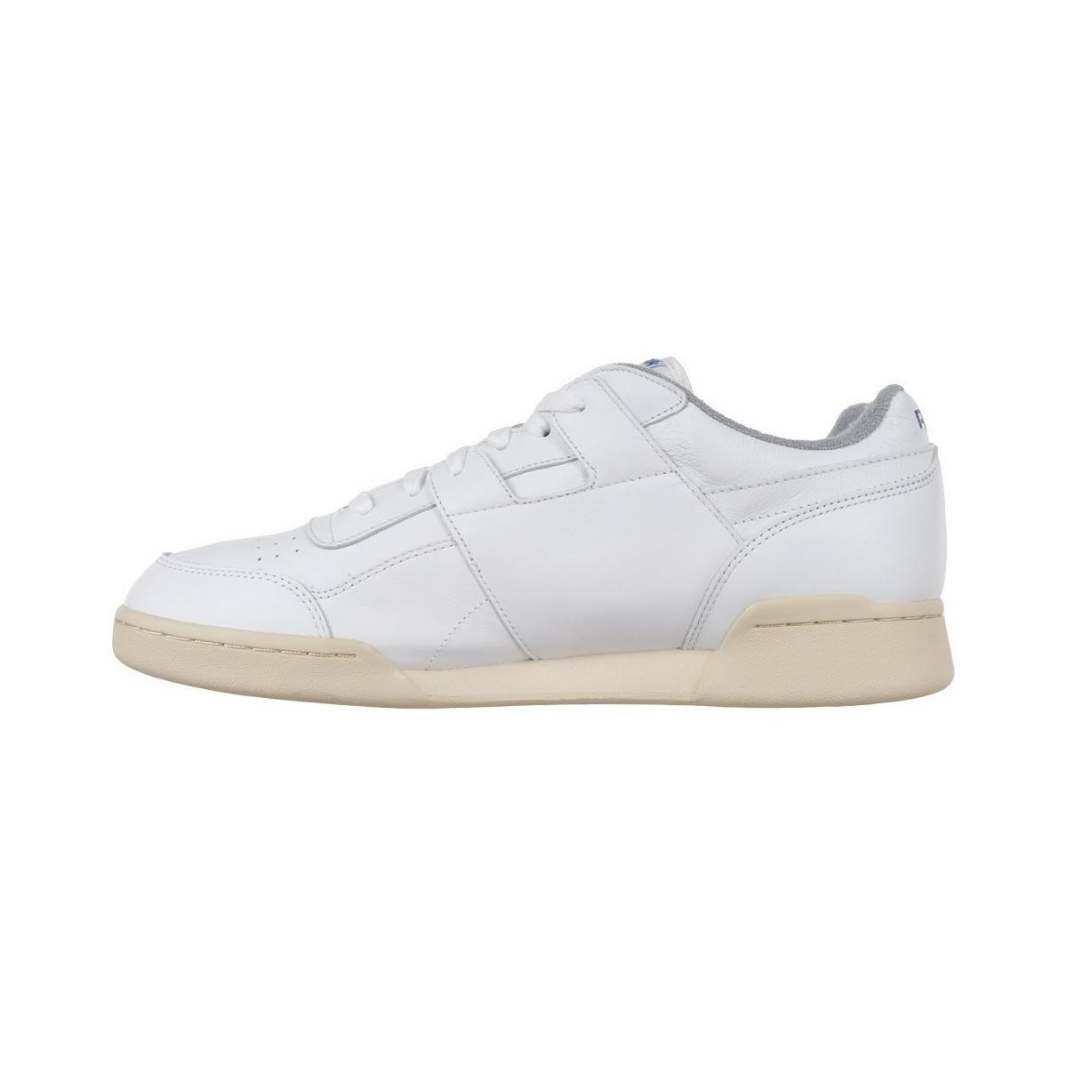 222890adc74 Reebok Classic Workout Plus R12 Men s Shoes (trainers) In White in ...
