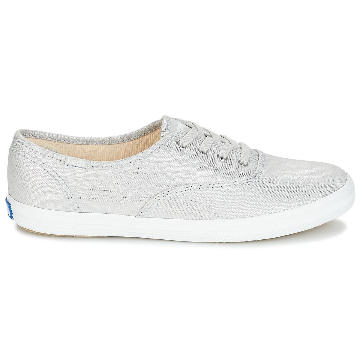 56853c7432d11 Keds Champion Metallic Linen Shoes (trainers) in Metallic - Lyst