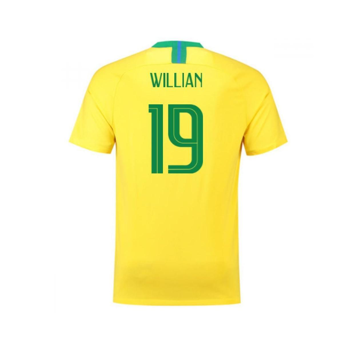 nike. 2018 2019 brazil home football shirt