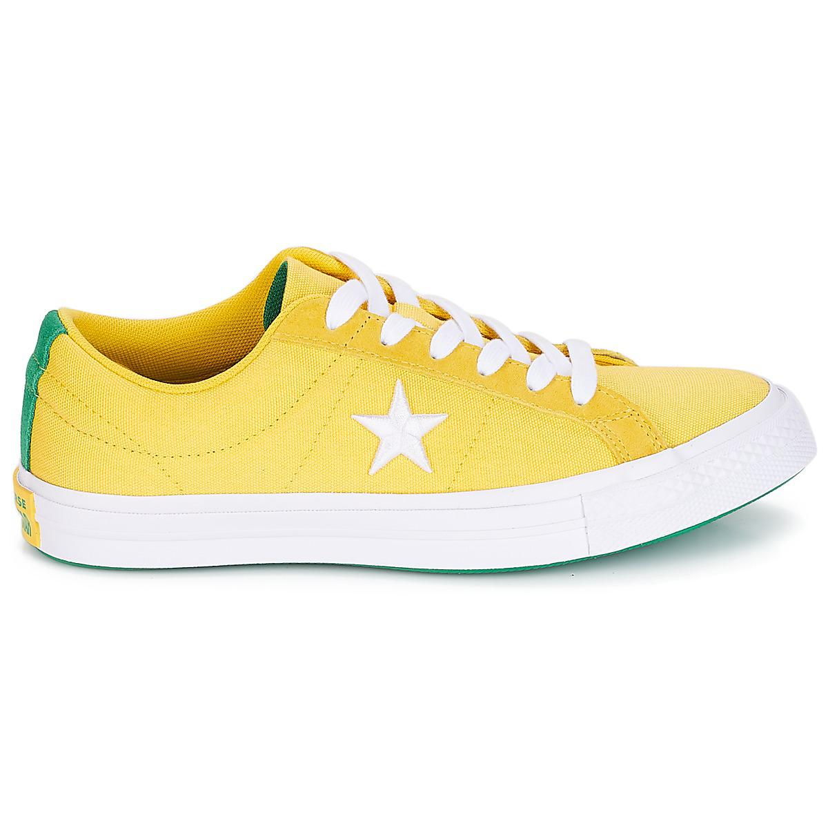 d5c1a46a876 Converse - One Star Women s Shoes (trainers) In Yellow - Lyst. View  fullscreen
