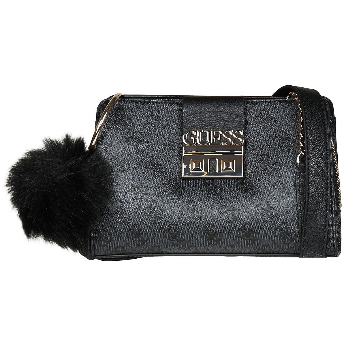 Guess Logo Luxe Crossbody Girlfriend Women s Shoulder Bag In Black ... 450e48c282
