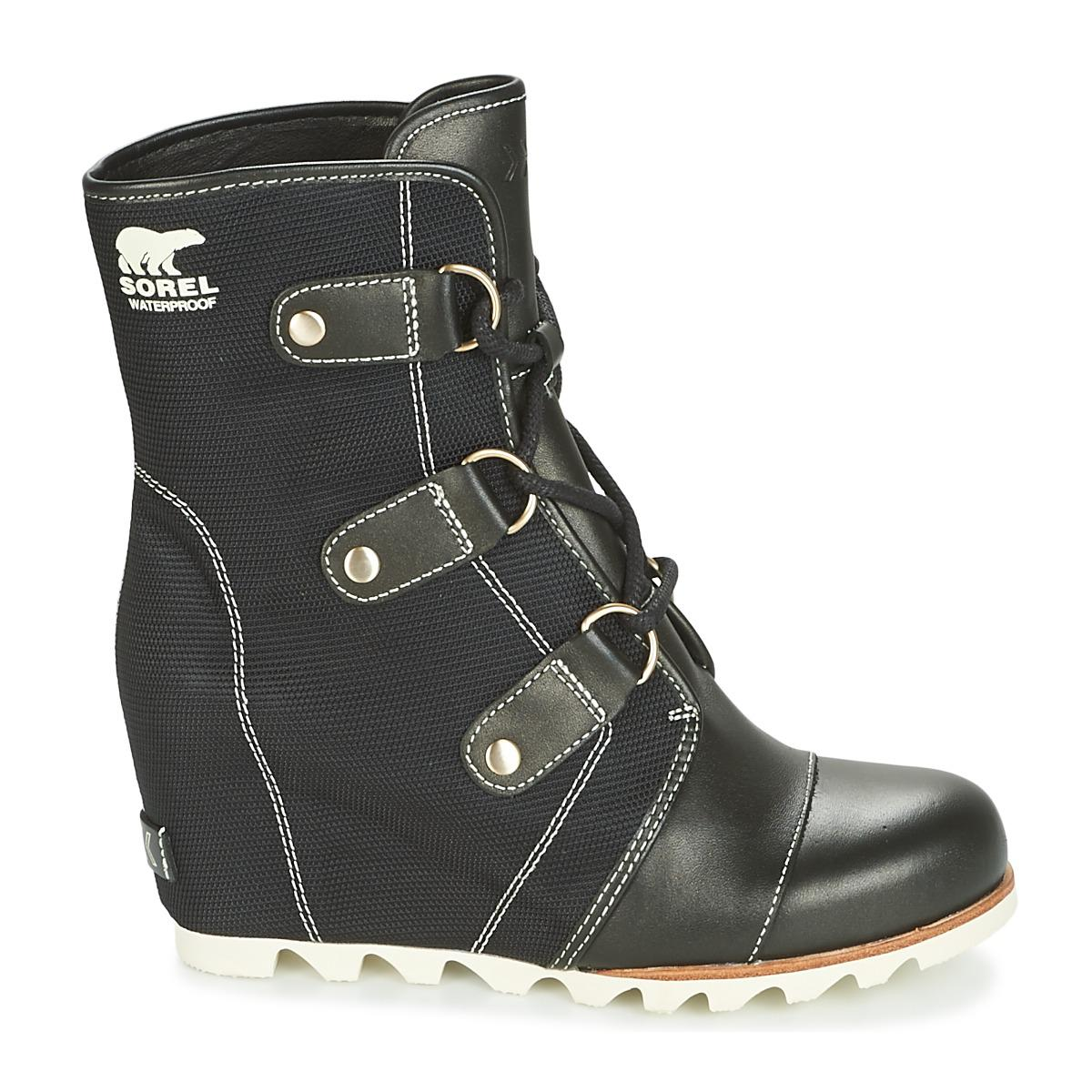 f8d9cee10889 Sorel - Joan Of Arctic Wedge Mid X Celebration Women s Snow Boots In Black  - Lyst. View fullscreen