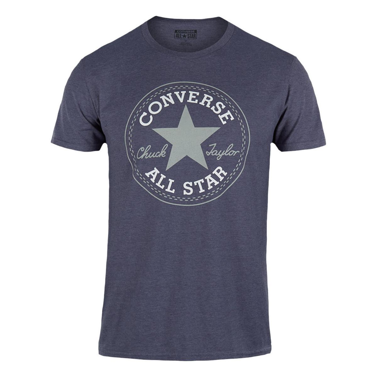 2036c5589253 Converse Mens Athletic Navy Heather Crew Tee All Star Chuck Taylor T ...