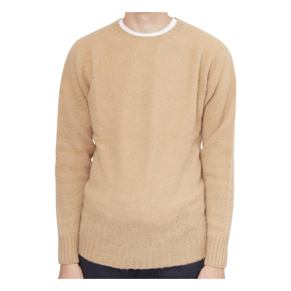341fd1fe0aded8 YMC Suedehead Brushed Crew Tan Men s Sweater In Other for Men - Lyst
