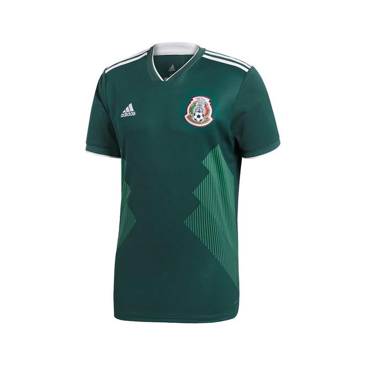 Adidas - 2018-2019 Mexico Home Football Shirt (kids) Women s T Shirt In.  View fullscreen aac638f88