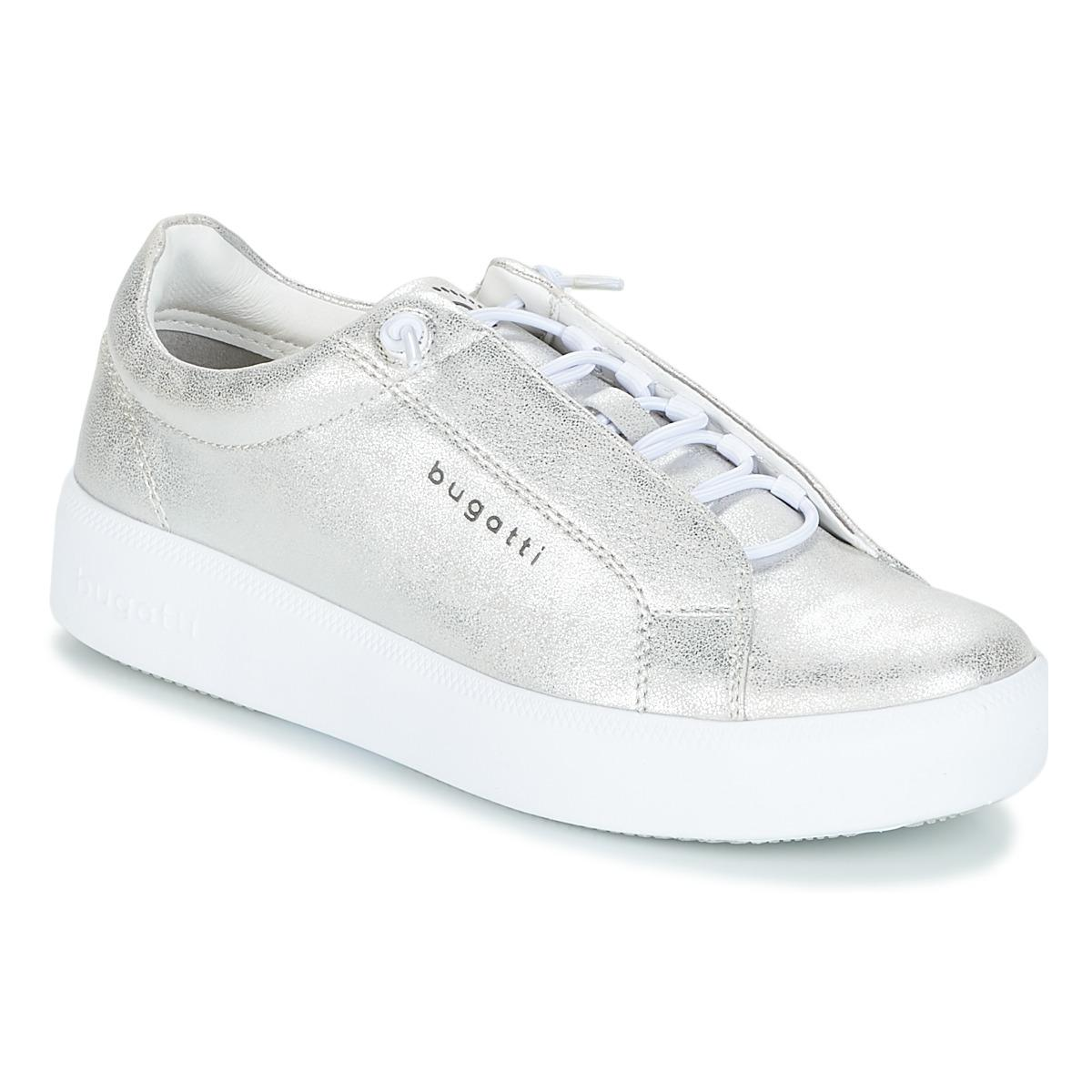 Bugatti - Women s Shoes (trainers) In Silver in Metallic - Lyst 982771561f