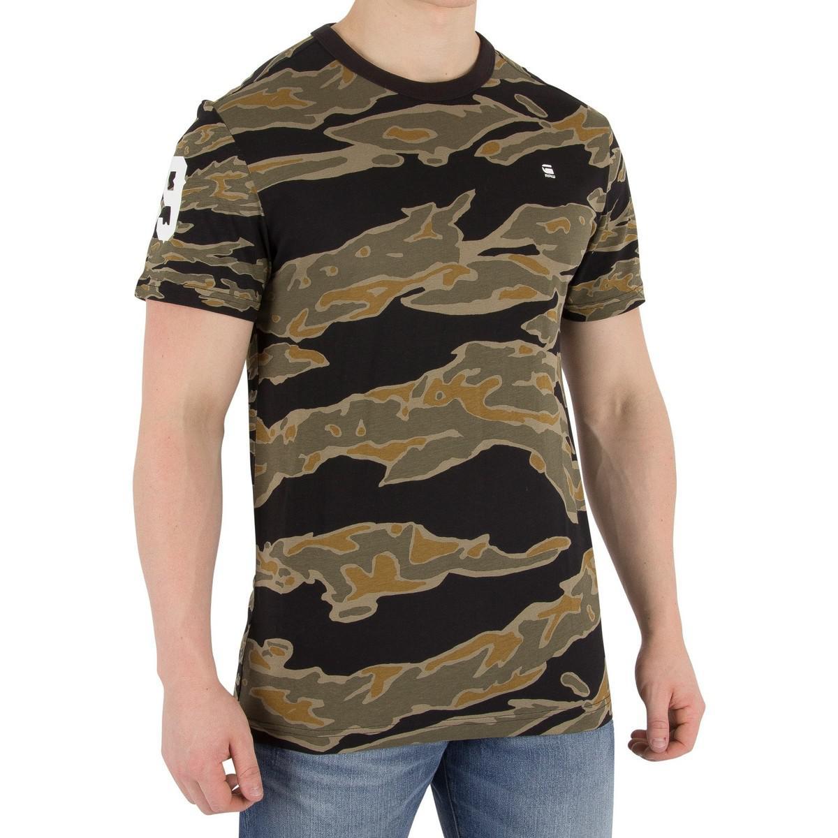 c7aafd8c G-Star RAW Men's Tertil T-shirt, Green Men's In Green in Green for ...
