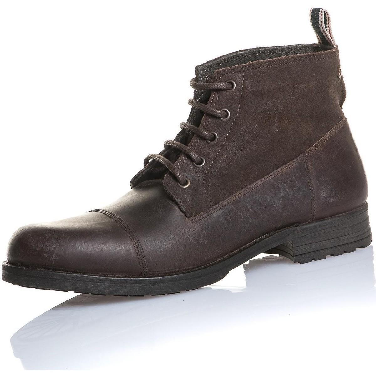 7304234d096 Lyst - Chaussure homme marron cuir montante hommes Boots en Marron ...