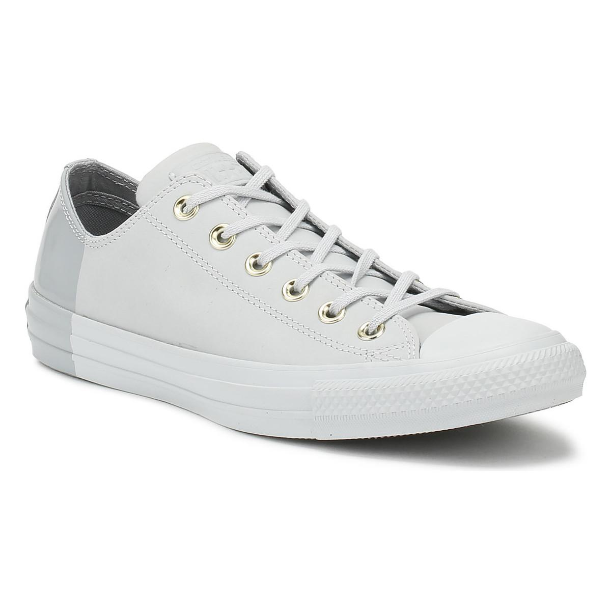 19ce53500d8f Converse. Gray Chuck Taylor All Star Womens Pure Platinum Ox Trainers ...