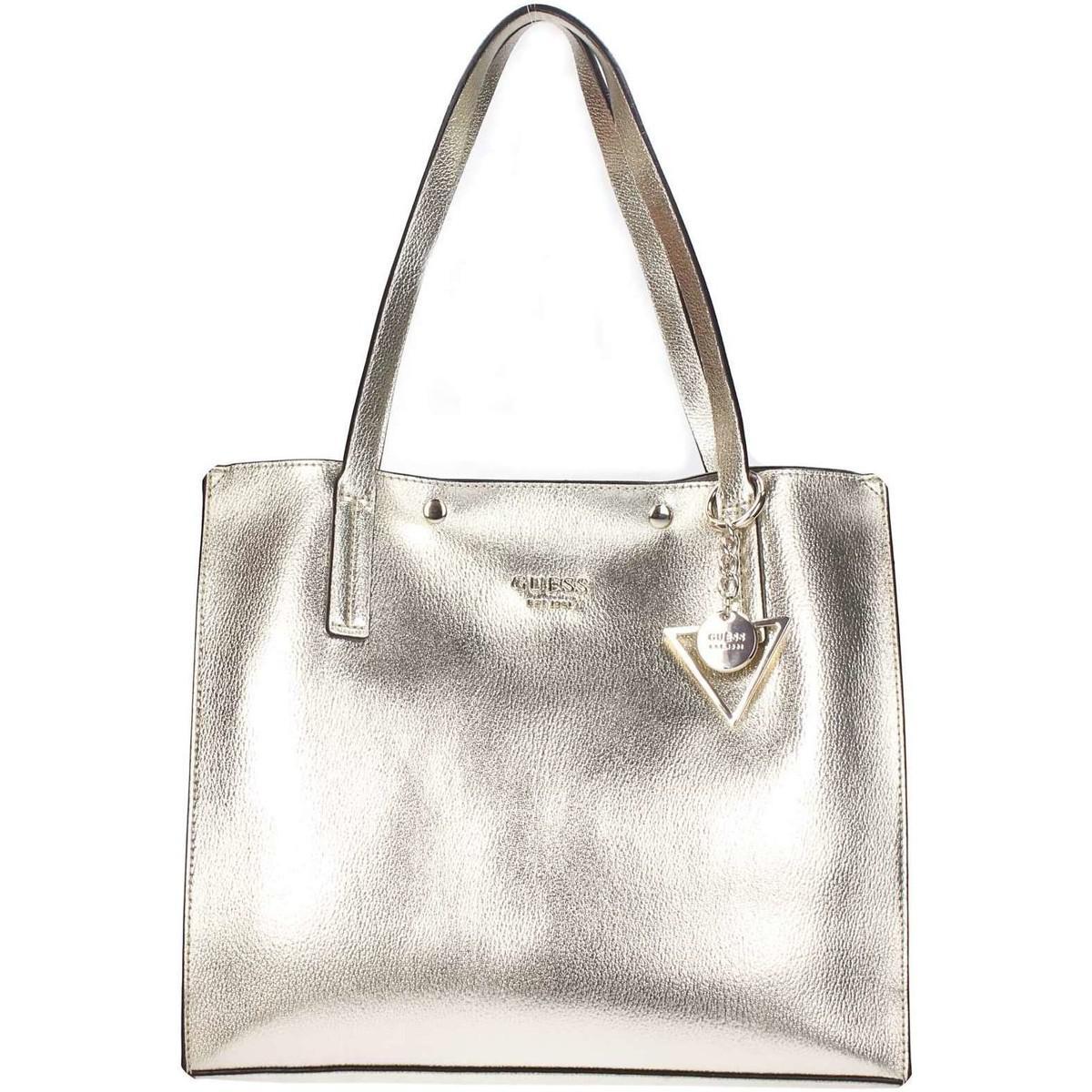 Guess shopping bag womens shopper bag in gold jpg 1200x1200 Gold guess bag 93c9ce72bf9bc